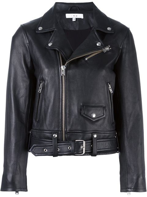 Shop Iro cropped biker jacket  in Kure from the world's best independent boutiques at farfetch.com. Shop 400 boutiques at one address.
