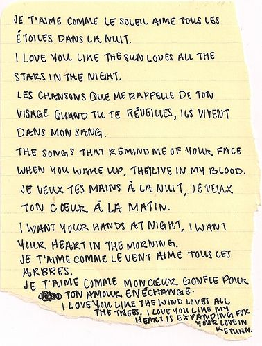 Pretty words in French