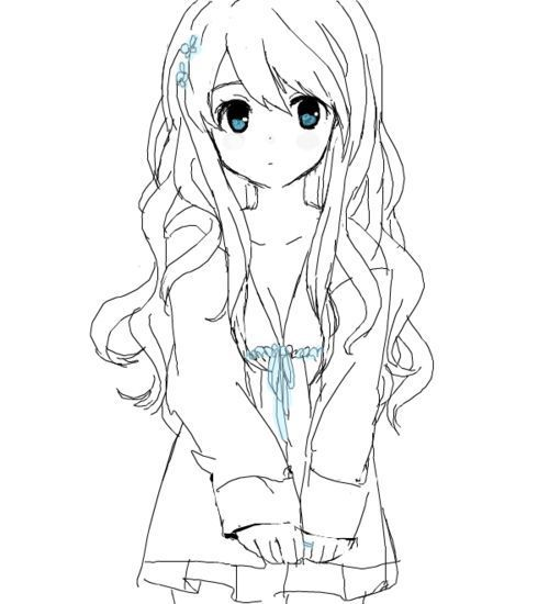 Anime Cute Girl Drawing