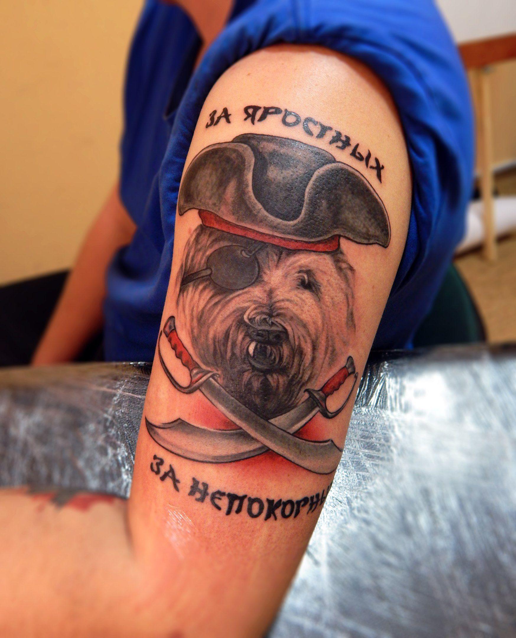 Photo-#Photo- Photo Fernando fernandoinn4457 Tema e idéias para Tattoo Яррр! Кость мне в глотку!#rutabaga #брюква #tattoo #tattooboy #tattooed #тату #tatts #татуировка #tattooartist #sevastopoltattoo #tattoosevastopol #ink #sevastopol #sevas #Севастополь #цвет #inkpeople #tattoolife #style #плечо #SouthRussianShepherd #sheepdog #собака #веселый #роджер #сабли #текст #Южнорусская #овчарка #клык #пират #треуголка #dog #Jolly #Roger #saber #text #fang #pirate #cocked #hat  Fernando  Яррр! Кость мн