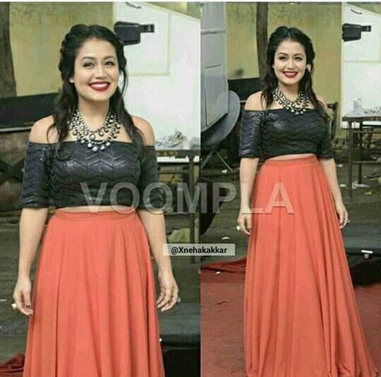 Neha Kakkar Neha Kakkar Dresses Indian Designer Wear Dresses For Teens