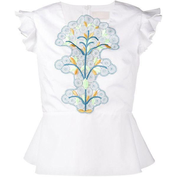 sleeveless embroidered peplum top - White Peter Pilotto New Arrival Cheap Price Buy Cheap Discounts wqrdAgv