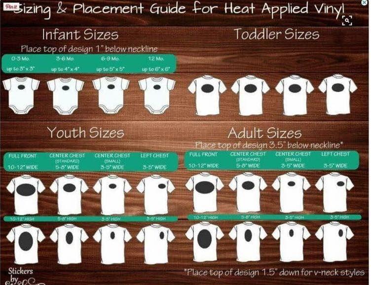 Shirt Placement Guide Cricut Tutorials Cricut Vinyl Cricut
