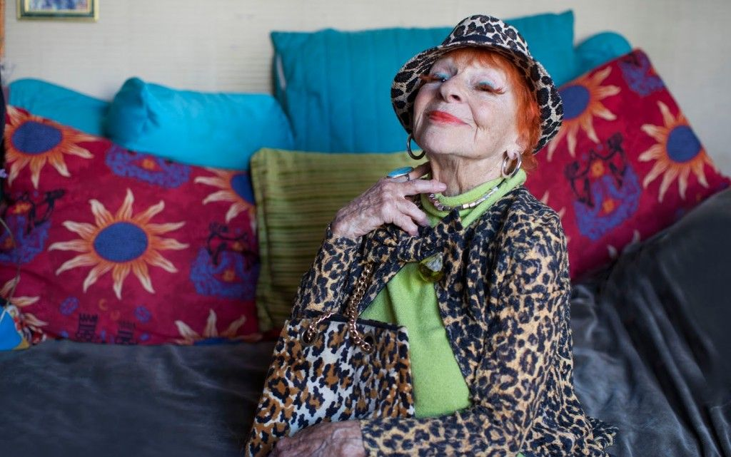 Advanced Style, A Must See | DC Goodwill Fashionista: lona was my favorite fashionable lady from the film. Her eyelashes are cut from her own hair and glued on her lids – amazing! She is 94.