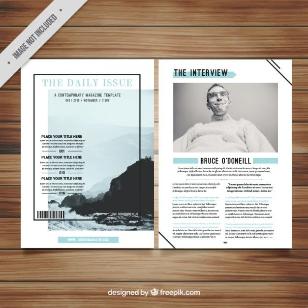 Download Minimalist Magazine Template for free | Magazine ...