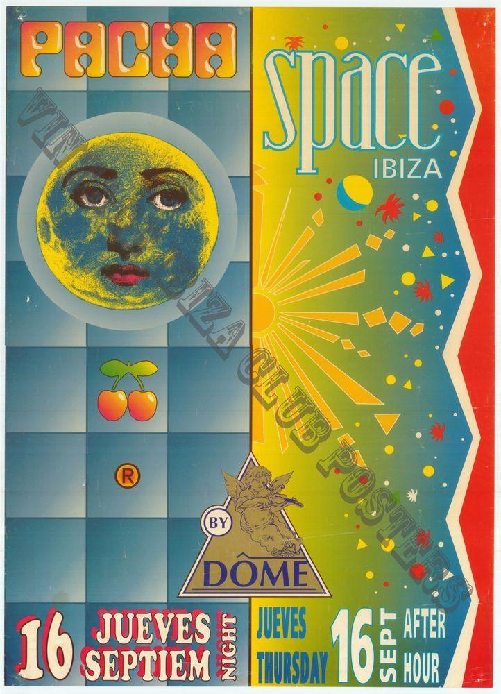 Pasha Space Vintage Ibiza Club Poster Club Poster Ibiza Clubs Vintage Posters