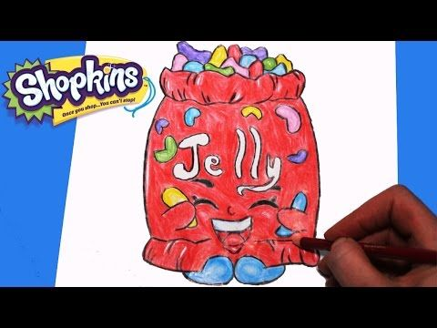 How To Draw Shopkins Jelly B Toy Caboodle Shopkins Drawings Shopkins Colouring Pages Drawings