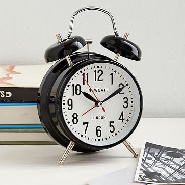 Newgate London Alarm Clock, Black
