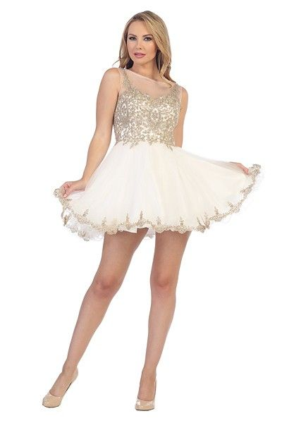 Bedazzle the crowd in this off white gold beauty from Let s. Also ... 8805bdc197b8