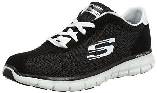 Synergy-Case Closed, Zapatillas de Entrenamiento para Mujer, Negro (Black), 36 EU Skechers