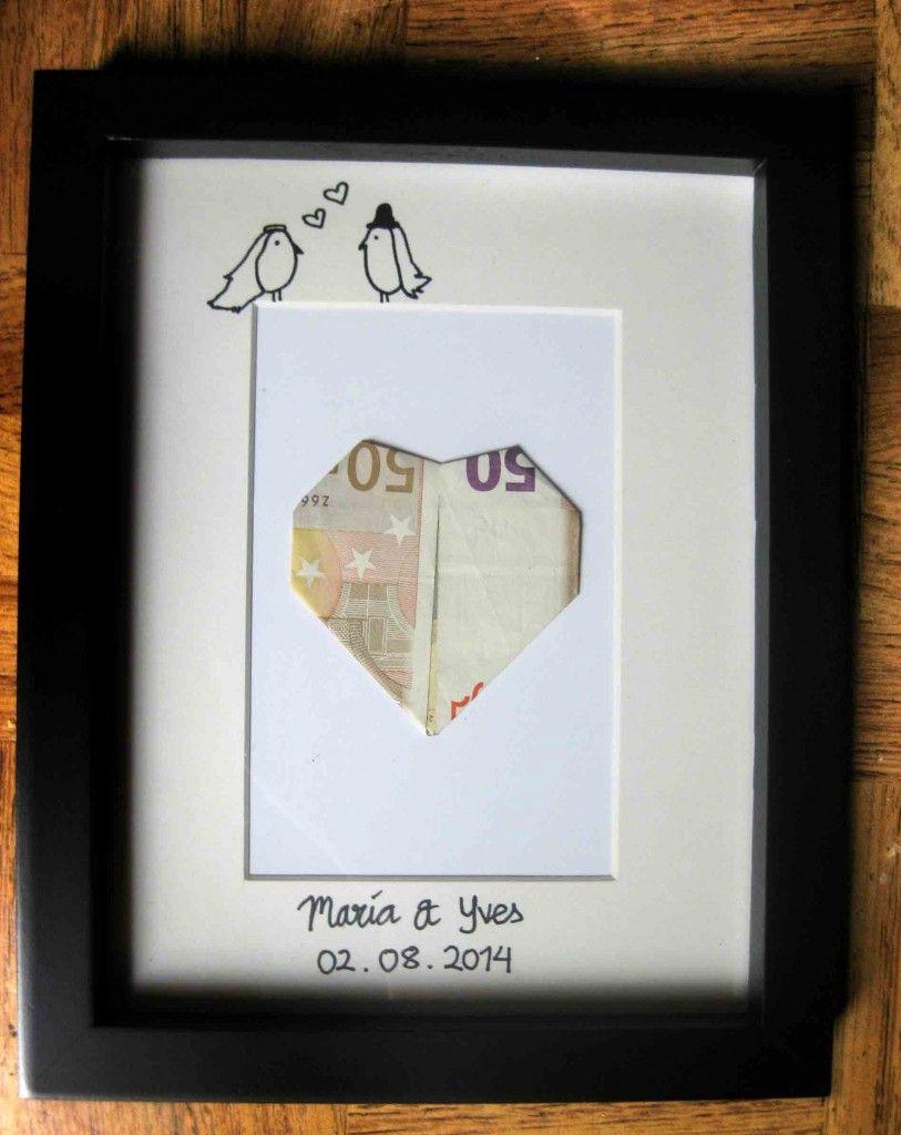 regala dinero a los novio de forma original boda regalo origami