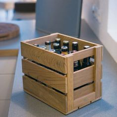 Homemade beer crate