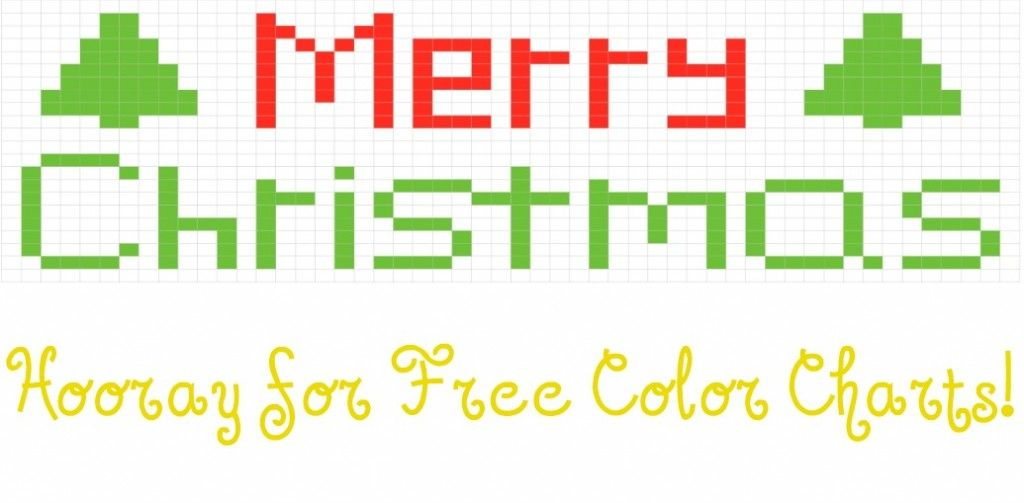 Festive Christmas color chart that can be used for knitting, crochet