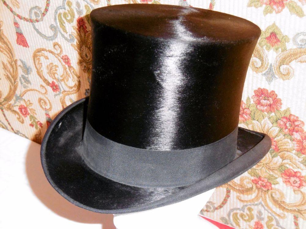Antico Cappello A CILINDRO TUBA LAPIN MELUSINE RADICONCINI ROMA TOP HAT  VINTAGE e479ea4ffae9