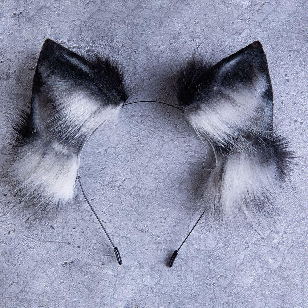 2020 的 Black wolf ear fox ear kitten ear neko ear anime