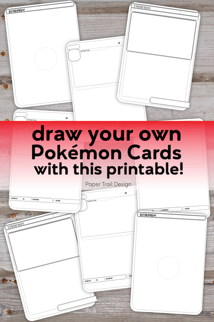 Pokemon Card Template Free Printable Paper Trail Design Pokemon Card Template Templates Printable Free Card Templates Free