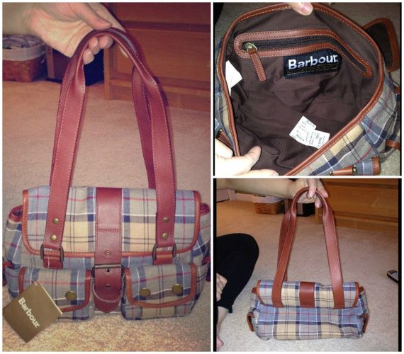 Authentic Barbour Tartan Small Utility Bag In Brown by naomiburton, $85.00