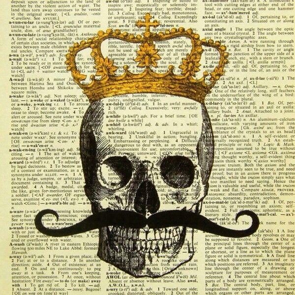 Mustache | Skull Art | Pinterest | Journal and Craft