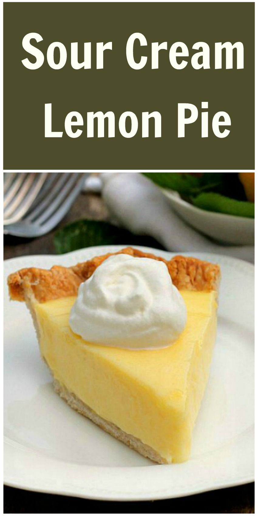Sour Cream Lemon Pie Bunny S Warm Oven Lemon Sour Cream Pie Desserts Lemon Recipes