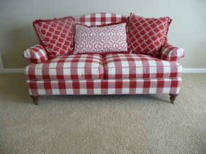 Red Gingham Sofa And Loveseat Deals On Plaid Living Room Furniture Are Going Fast Thesofa
