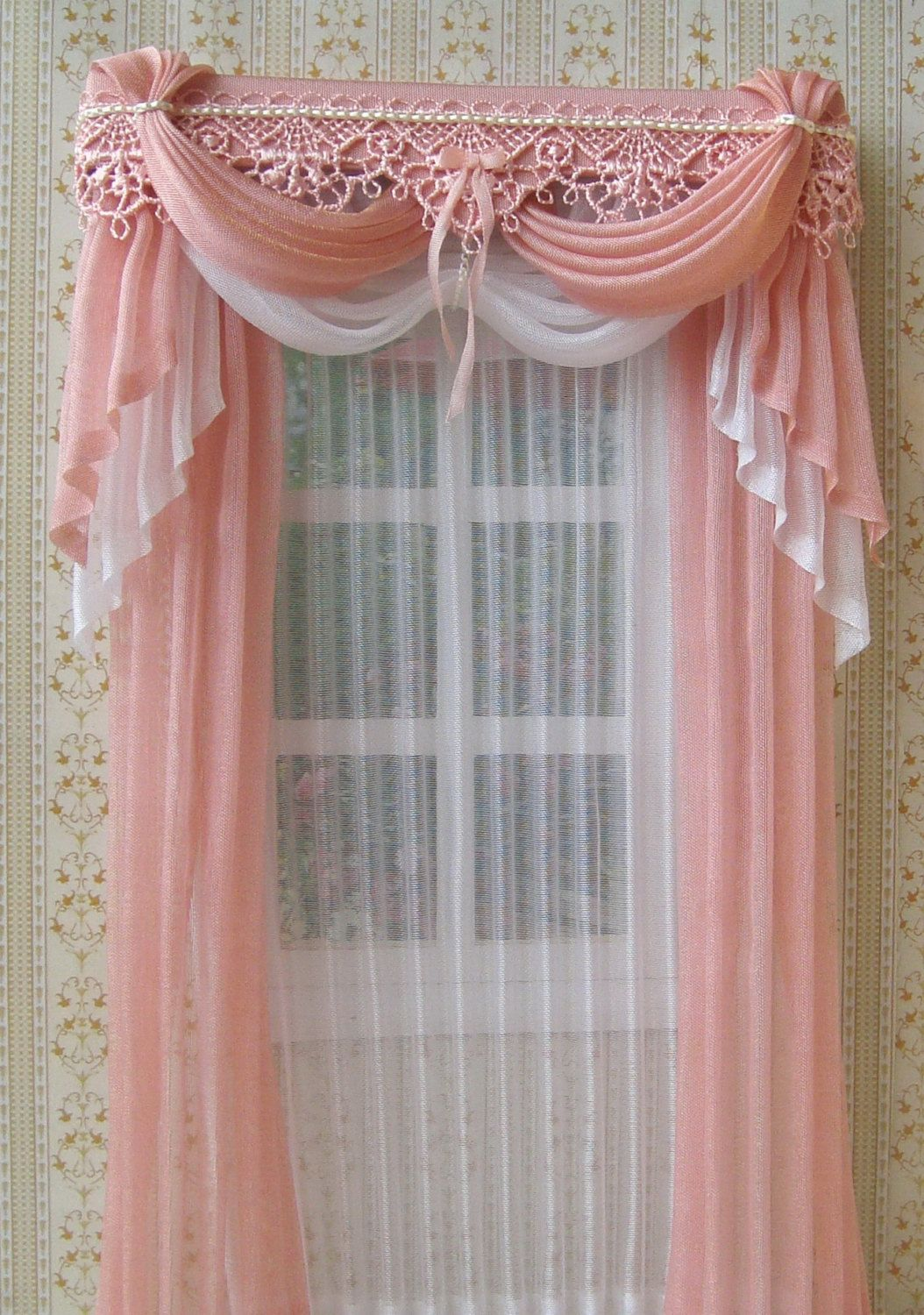 Miniature 1:12 Dollhouse curtains to order | Cortinas, Miniatura y ...