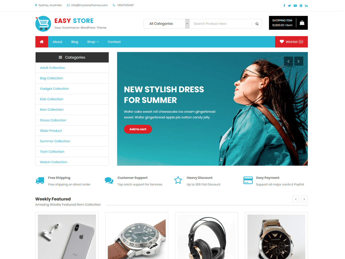 Download Easy Store 1 0 11 Free Wordpress Theme Woocommerce Wordpress Themes Free Wordpress Themes Woo Commerce Wordpress