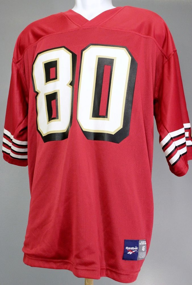 9d2c3602 Jerry Rice San Francisco 49ers Reebok Jersey Reversible VTG Men Sz ...