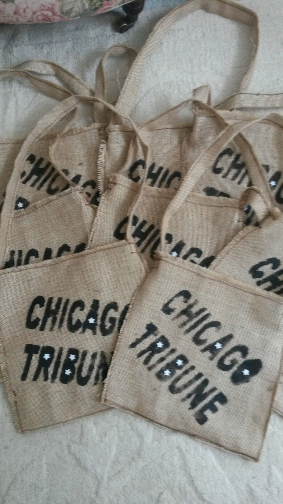 Hessian bags printed for showtime 2016.