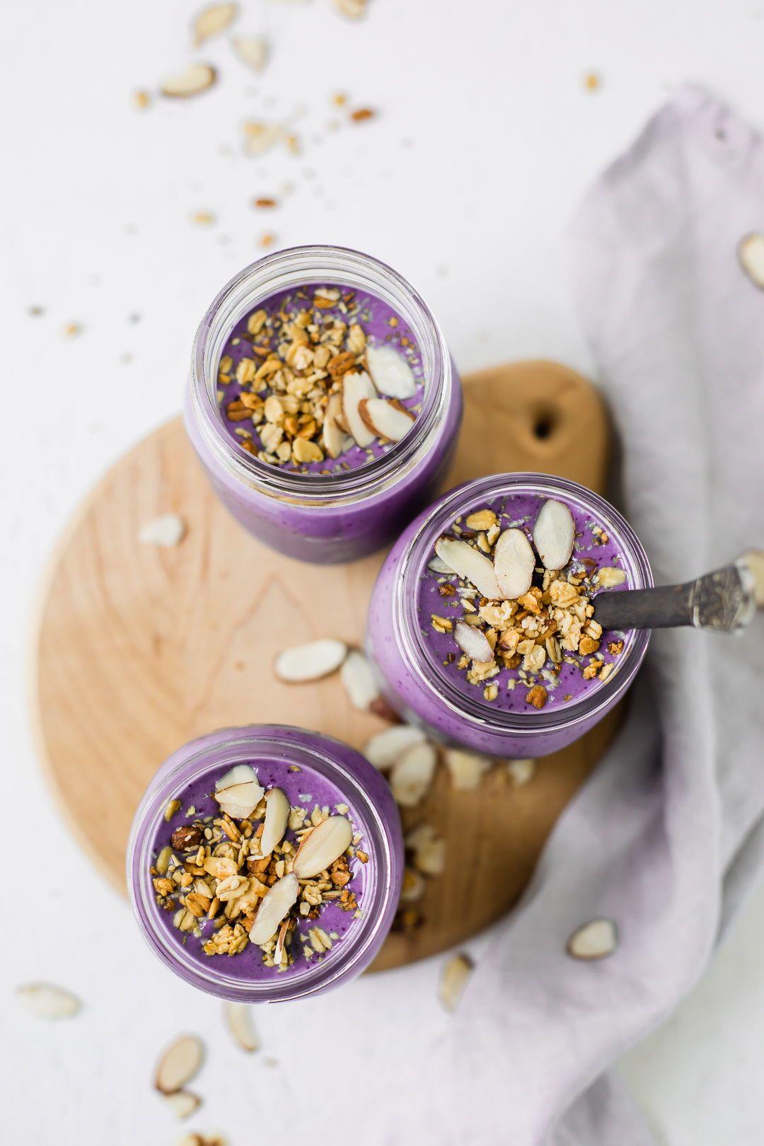 Blueberry Vanilla Protein Shake #proteinshakes