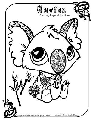Creative Cuties Koala Printable Coloring Page Color Pinterest