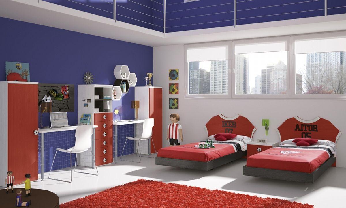 Cuarto De Ni Os Decorado Con Tema De Futbol Dormitorios  ~ Ideas Para Decorar Dormitorio Juvenil