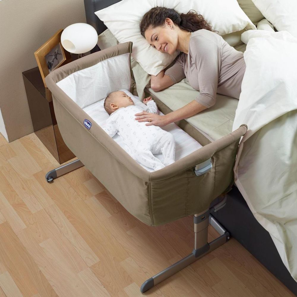 Bed Side Baby Crib Chicco Next 2 Me Drop Side, attaches