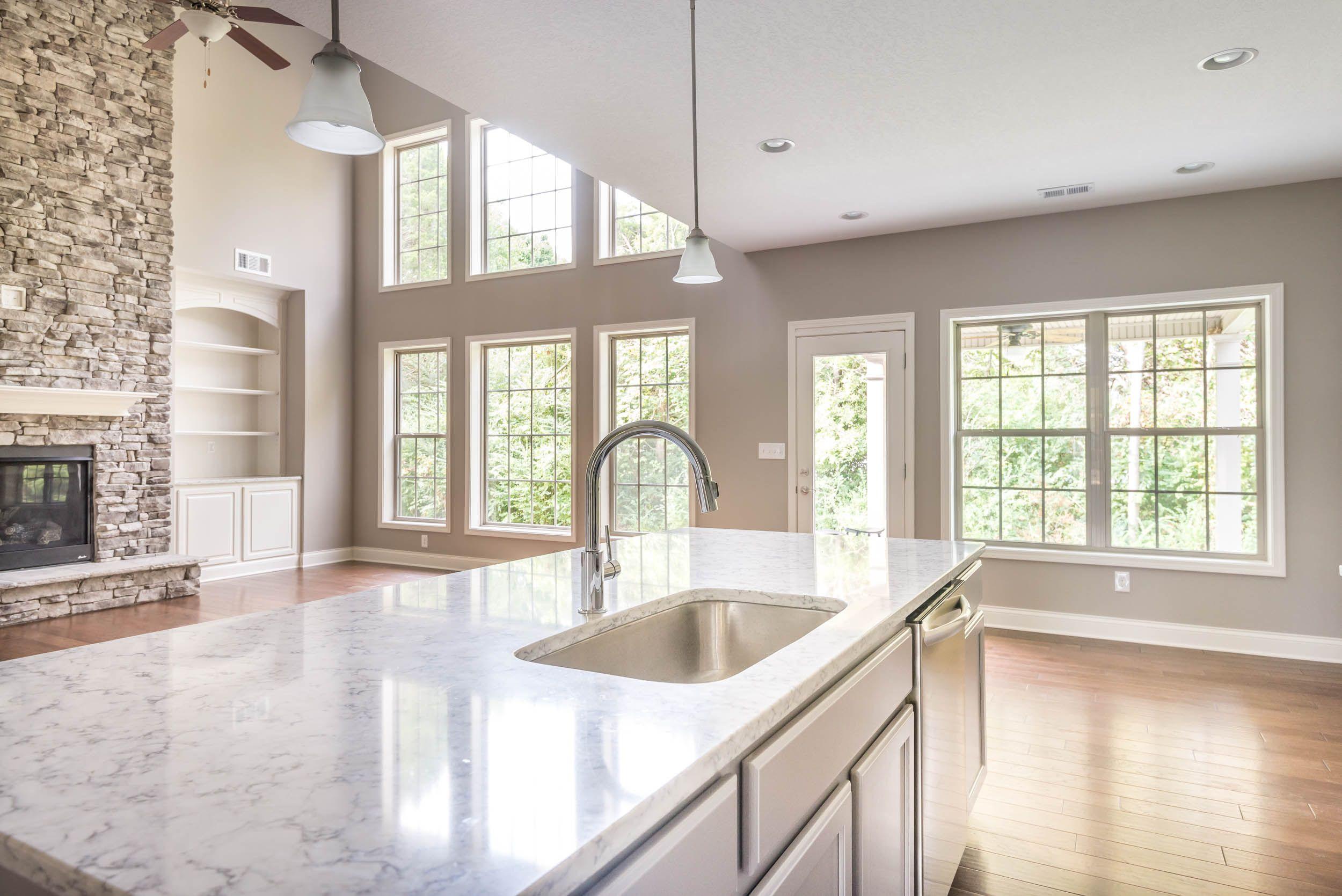 Spencer II Open Floor Plan Living Room & Kitchen | The Spencer II ...