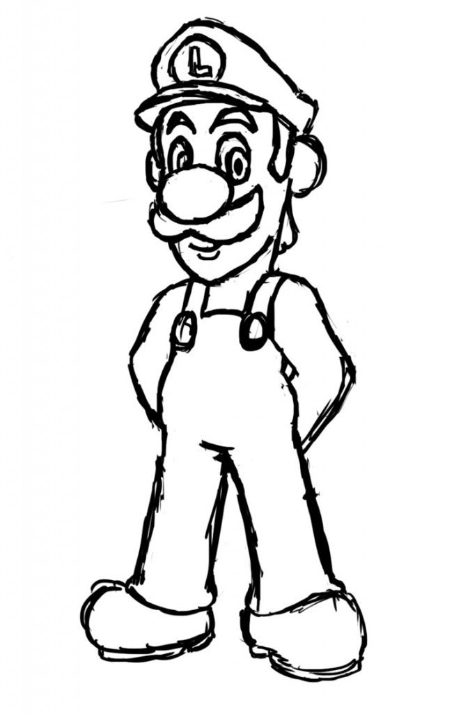 Free Printable Luigi Coloring Pages For Kids Cartoon Coloring