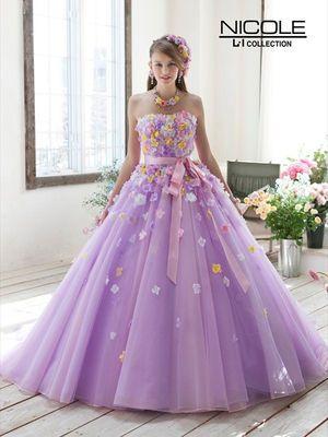 NICOLE ウェディングドレスのパターン, 色付きのウェディングドレス, ブライダルドレス, キンセア