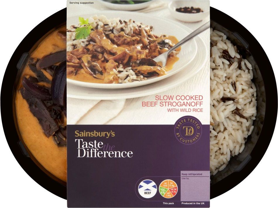 Sainsbury39s Taste The Difference Beef Stroganoff Rice 450g Make New BrandY Beef