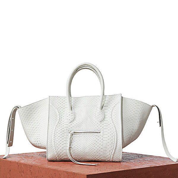 8f389a78c1d0 Celine Bag Luggage Phantom in Python White