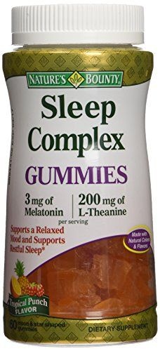 bounty sleep nature melatonin amazon gummies complex vitamins natures theanine brain food mg