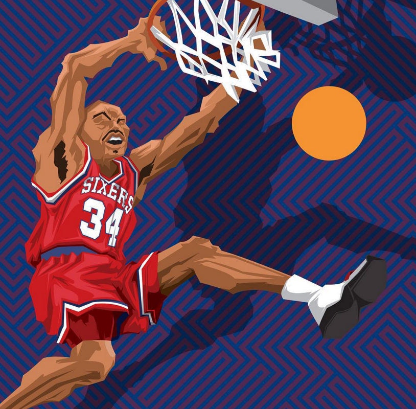 Charles Barkley Sir Chuck Caricature Art Nba Basketball Art Charles Barkley Caricature