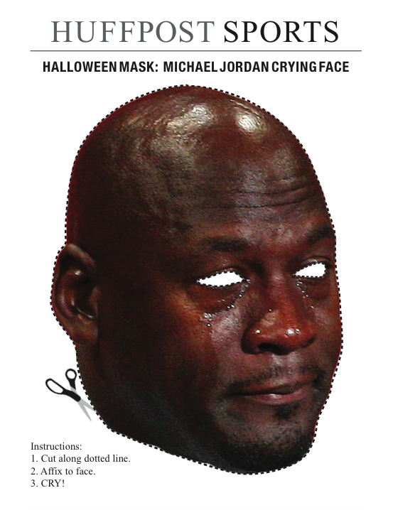 Here's A 'Michael Jordan Crying Face' Halloween Mask For