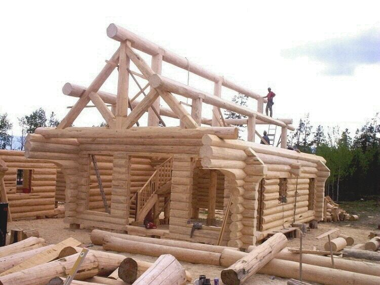 How to build a simple log cabin home ideas pinterest for Cabin construction ideas