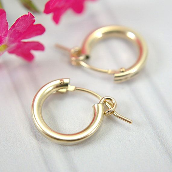 Geometric Circle Minimalist Rose Gold Filled Hollow Half Round Stud Earrings
