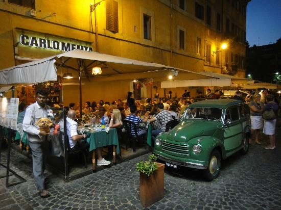 Ristorante Carlomenta A Traditional Restaurant In The Quarter Of Trastevere It S Famous This Lasagna And The Traditional Brusquete Als Trastevere Rome Italy
