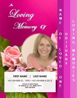 4 Page Graduated Funeral Template for Memorial Service \/ Order of - free memorial service program