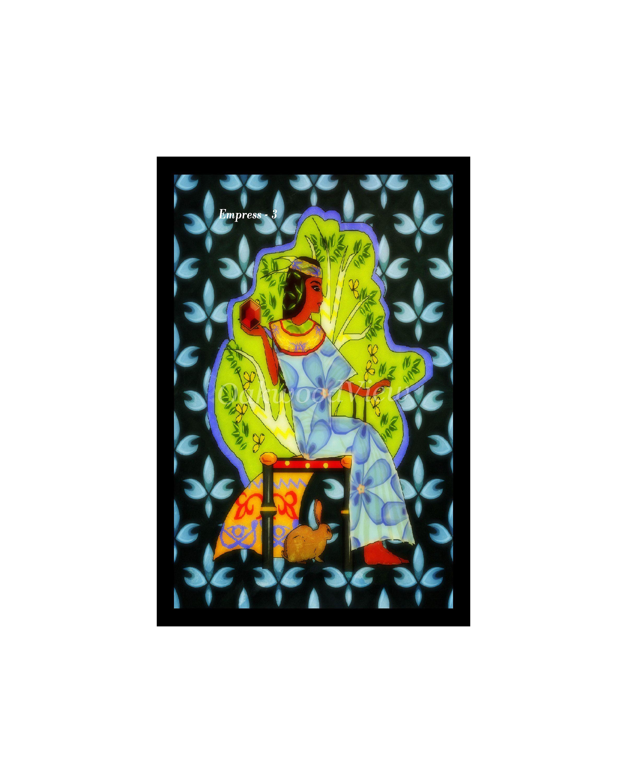 Empress card from the lucid tarot deck queen goddess