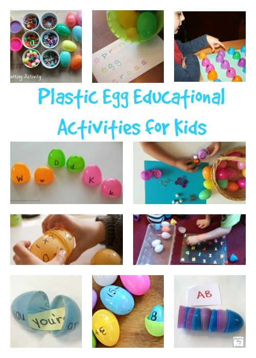 Plastic Egg Educational Activities for Kids