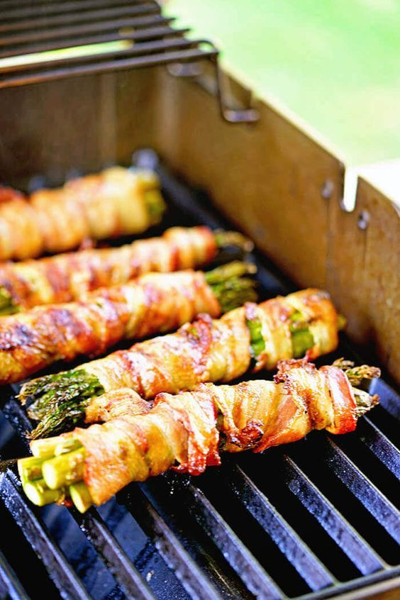 Asparagus Wrapped Bacon Recipe Grilled Asparagus