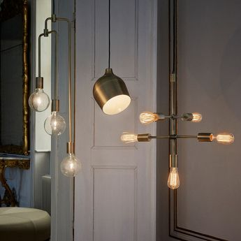 Suspension Piper Lounge 5 Lampes Laiton Bolia
