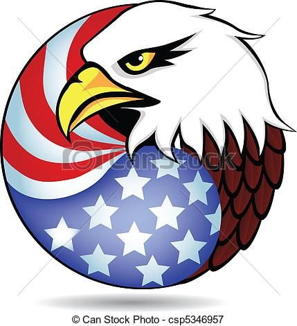 vector eagle had and flag of america stock illustration royalty rh pinterest com american eagle clipart black and white american eagle clipart image