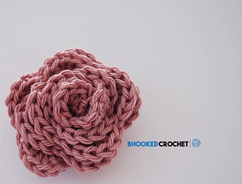 Beginner Crochet Rose Pattern – B.hooked Crochet